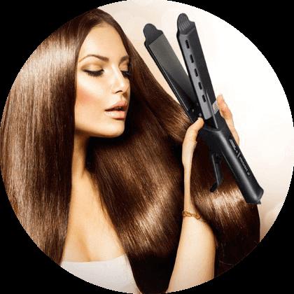 Plancha alisadora de cerámica para el cabello TOURMALINE