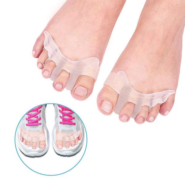 Espaciadores correctores de silicona para dedos del pie Hallux