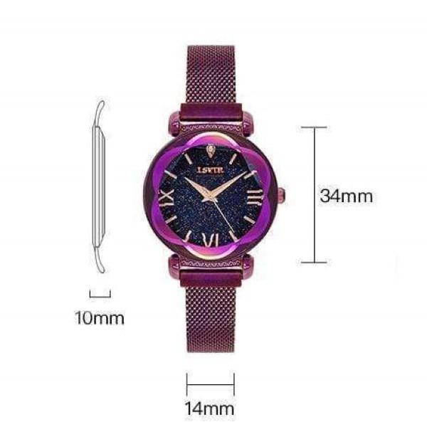 Reloj magnético con diseño de cielo estrellado STARRY TIME