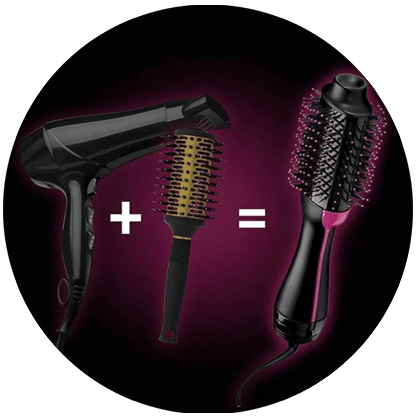 2 en 1: cepillo secador y voluminizador de cabello STYLOOM
